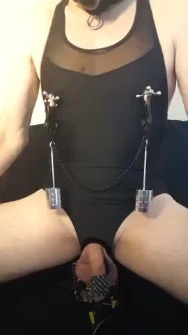 Kinky masoslut remote estim CBT session-